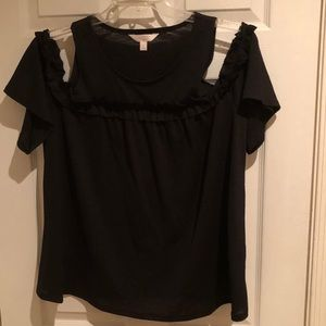 Black cold shoulder blouse